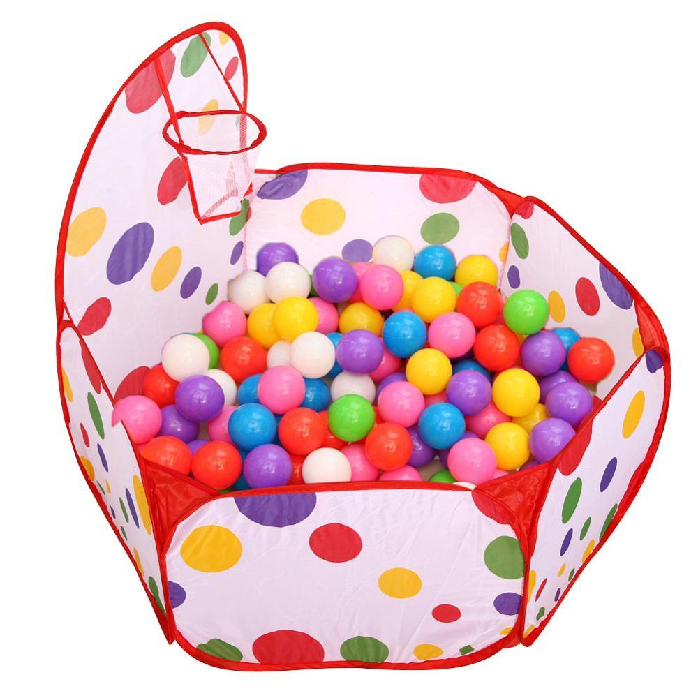 4 шт. детская палатка для помещений и улицы, детский игровой домик с океанским шариком, детский туннель из труб для ползания, игрушка, складная надувная палатка - Color: 02