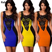 S M L XL Spring 2018 new woman fashion sexy lace embroidered fight skin tight dresses O -Neck Short Sleeve Slim Dress