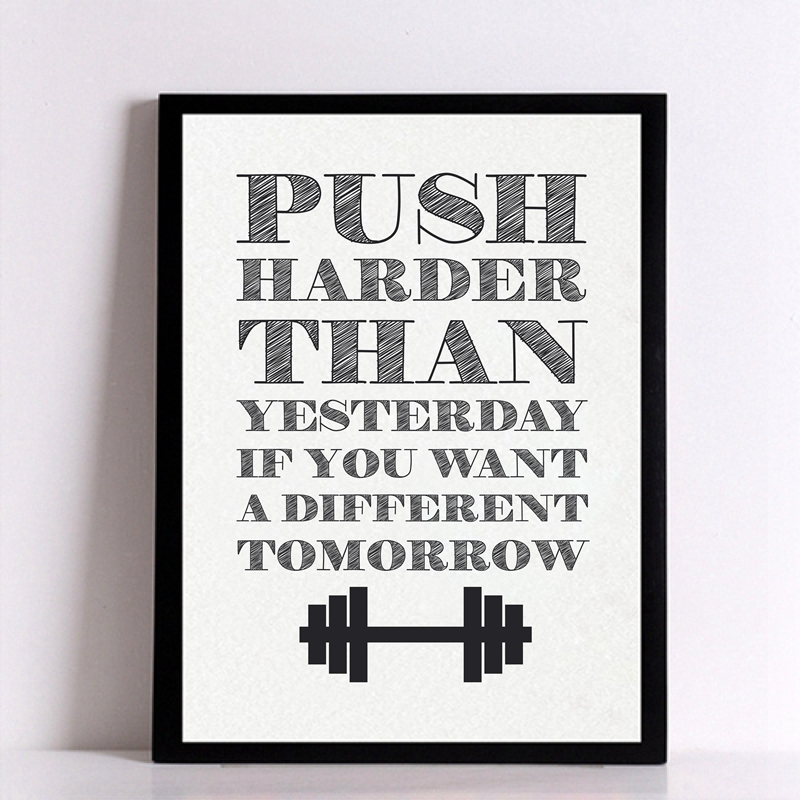 Home gym wall art poster canvas motivational