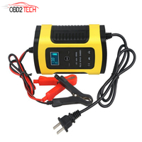 12V 6A Motorcycle Car Battery Charger Full Intelligent Universal Repair Type Lead Acid AGM GEL Batteries Storage Charger
