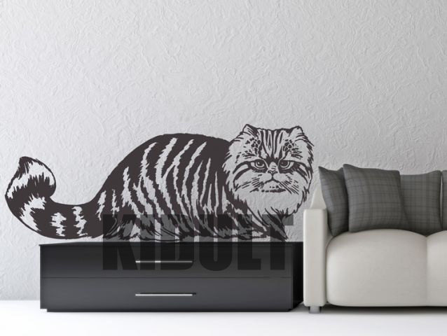 Cat Wall Stickers Creative Personality Vinyl Decals Animals Art Cafe Office Bedroom Wall Art Painting Home Decoration Multicolor