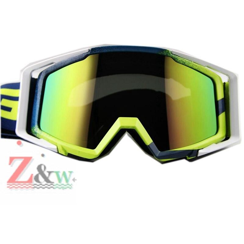Разноцветный линзы пыленепроницаемый очки мотоцикл Мотокросс Байк Велоспорт Велосипедный Спорт Лыжный спорт Сноуборд ветрозащитный очки ...