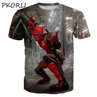 Maravilha verão Foda Homens Camiseta 3d Impressos Camisetas Deadpool Engraçado Anime Grapahic Camiseta Masculina Tops Oversized 5XL 6XL