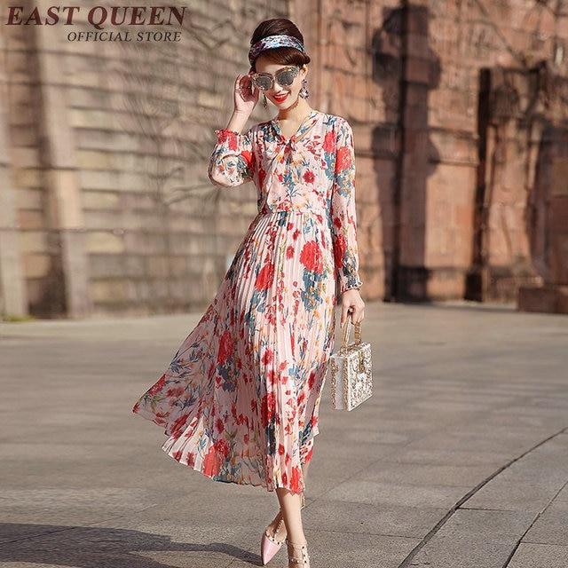 Langarm kleid floral