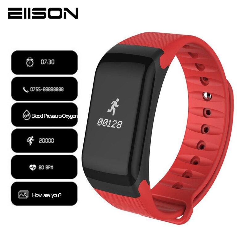 82a7159ddc26 Pulsómetro relojes pulsera de ejercicio de presión arterial Monitor de  ritmo cardíaco banda ...