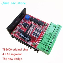 Two phase stepper motor driver 4A 16 subdivision TB6600 original chip dc pwm speed controller single pulse 4a tb6600 stepper motor driver controller 9 42v micro step single axes hybrid stepper motor for cnc
