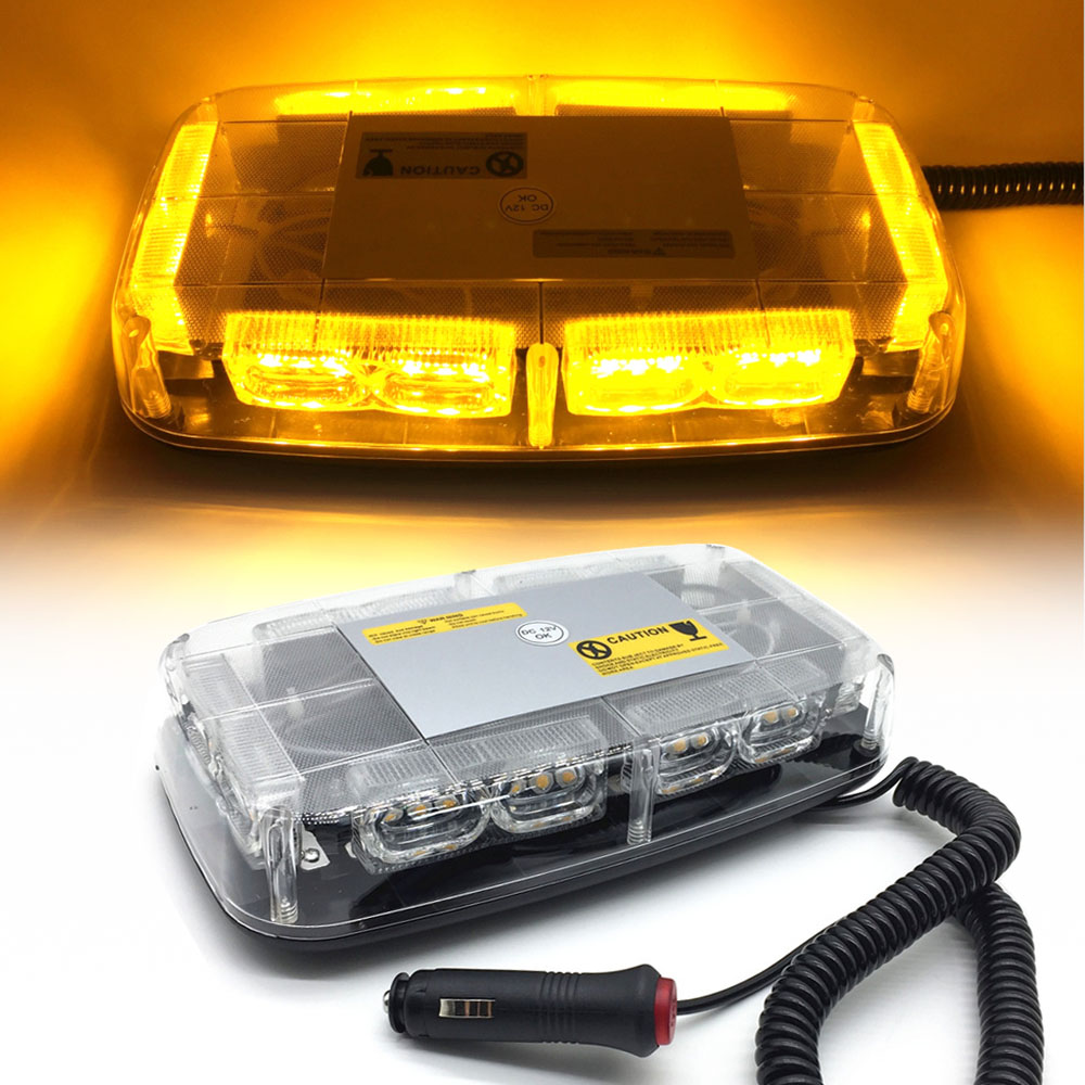 36LEDs Super Bright Car Roof Warning Light Dome LED Flashing Strobe Emergency Vehicle Police Lights Magnetic
