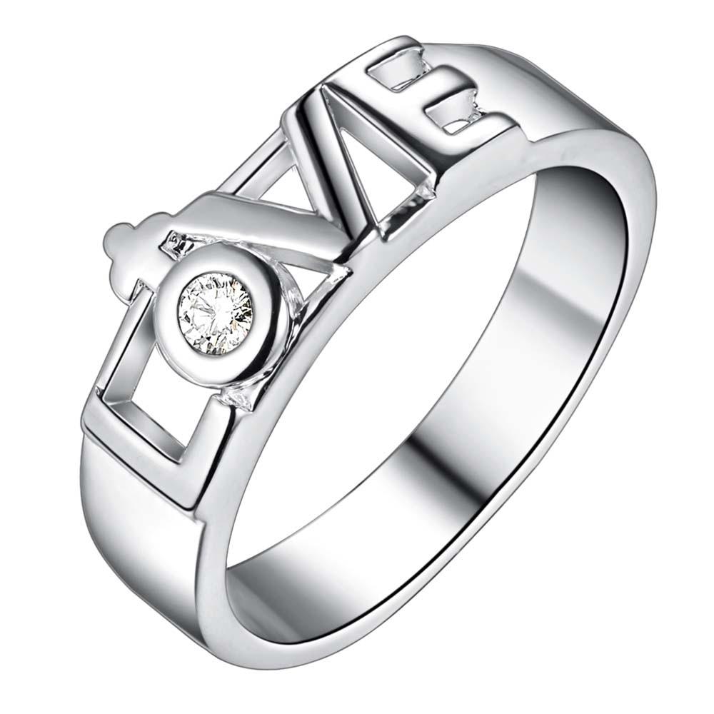 ΞSüße mode silber liebe fine ring mode Frauen& Männer geschenk ...