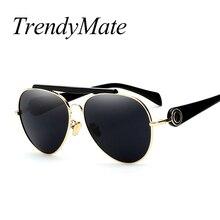 Aviación gafas de Sol de la manera Original de la Marca Gafas de Sol Mujeres Grandes gafas de Marco Shades Nuevo Estilo Gafas De Sol Mujer de Verano 1014 M
