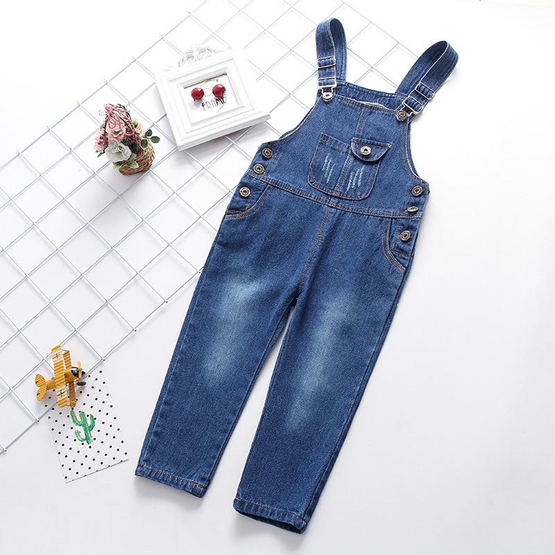 Baby Grils Boys jeans Overalls New kids pants Boys girls trousers jeans denim jumpsuit overoles Children Jeans Jumpsuits стоимость