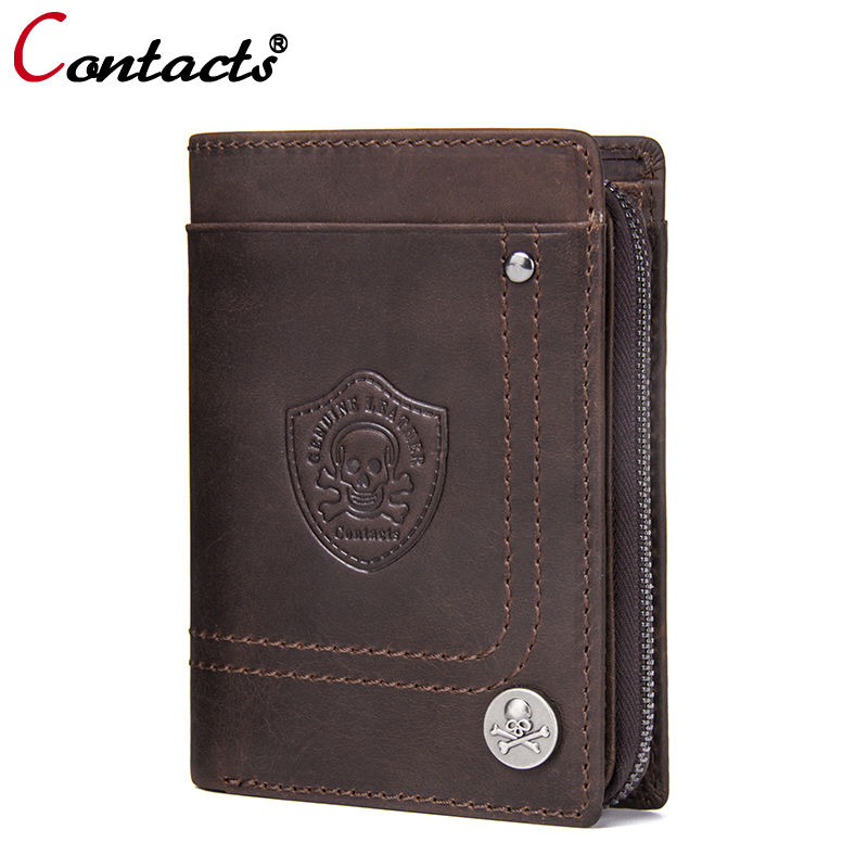 CONTACT'S Men wallets genuine leather wallet men business card holder clutch male coin purse small wallet money bags walet gifts contact s long genuine leather men wallets male purse coin id credit card holder phone man clutch bags money small perse black