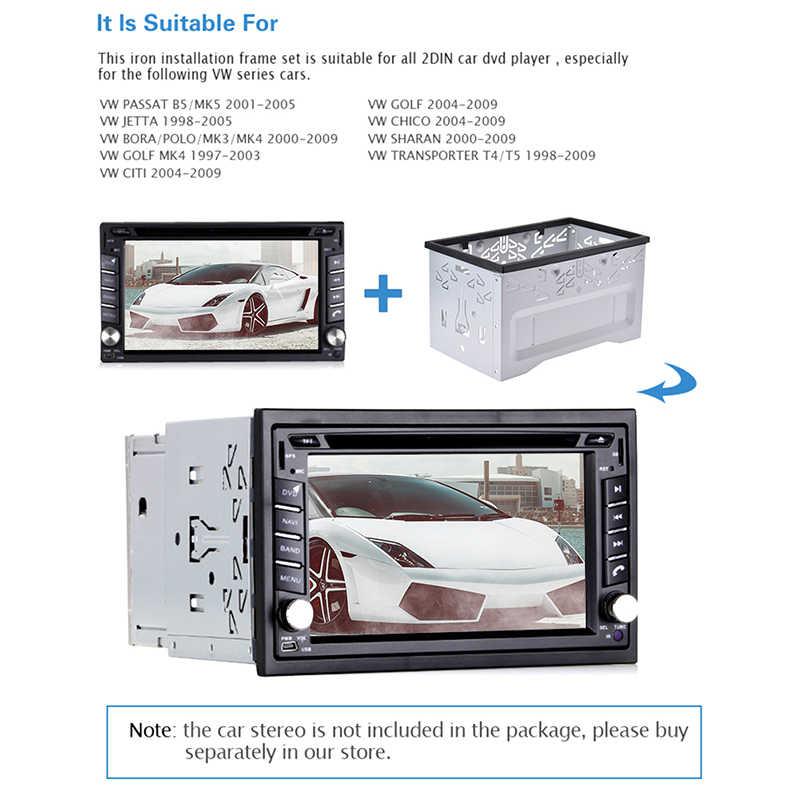 Instalacja dyniowa uniwersalna rama konsoli dla 2 Din Android samochodowy odtwarzacz dvd odtwarzacz radia samochodowego dla Volkswagen/Golf/Polo/MK3/Jetta Nissan