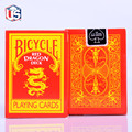 red dragon deck red golden dragon playing cards xbacks  magic props magic cards
