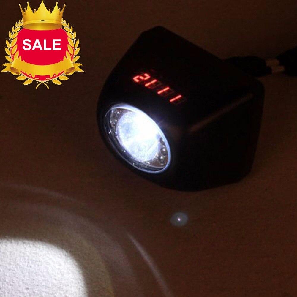 Kohree KL4.5LM CREE 3 W LED inalámbrico lámpara faro linterna de seguridad de batería Li-Ion pantalla LCD recargable minero de luz