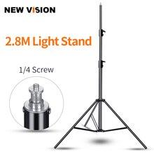 Godox 110 inç 280cm ışık standı 1/4 vida ağır Tripod profesyonel stüdyo flaş ışığı Softbox şemsiye reflektör