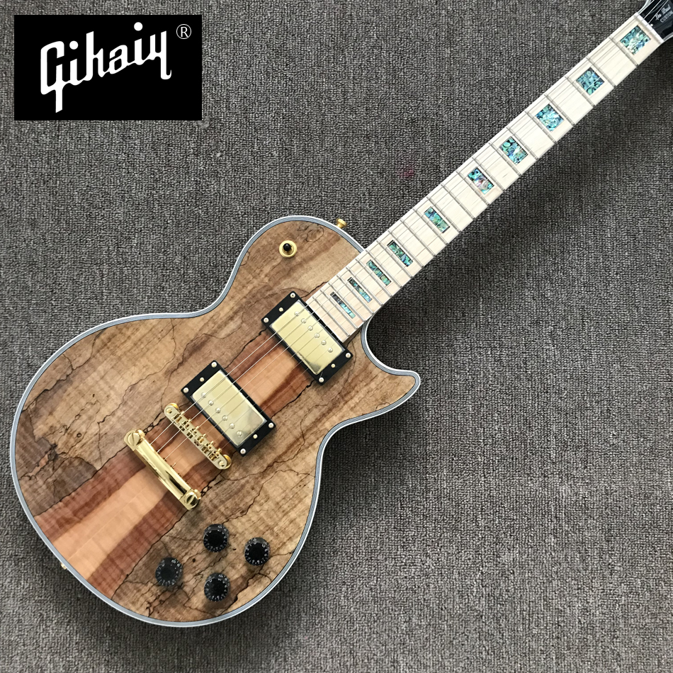 NEW High quality hand-made electric guitar, Rotten wood electric guitar with maple fingerboard abalone inlaid, free shippingNEW High quality hand-made electric guitar, Rotten wood electric guitar with maple fingerboard abalone inlaid, free shipping
