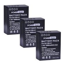 PowerTrust 3 шт. 1800 мАч BLH-1 BLH 1 BLH1 Замена литий-ионные аккумуляторы для Olympus E-M1 Mark II цифровой Камера