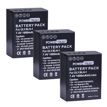 PowerTrust 3Pcs 1800mAh BLH-1 BLH 1 BLH1 Replacement Li-ion Batteries for Olympus E-M1 Mark II Digital Camera
