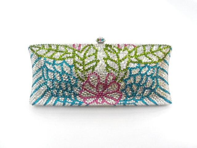 ФОТО S7735TF Crystal lady fashion wedding Bridal Metal Evening purse clutch bag case handbag