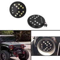 2pcs For Jeep Headlights For Jeep Wrangler JK TJ Unlimited Front Head Lamp With H4 H13