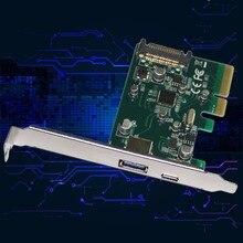 2 Порта 10 Гбит USB3.1 Типа Combo для PCI Express X4 Адаптер Конвертер USB-C USB 3.1 Type-C Контроллер PCIe Карты