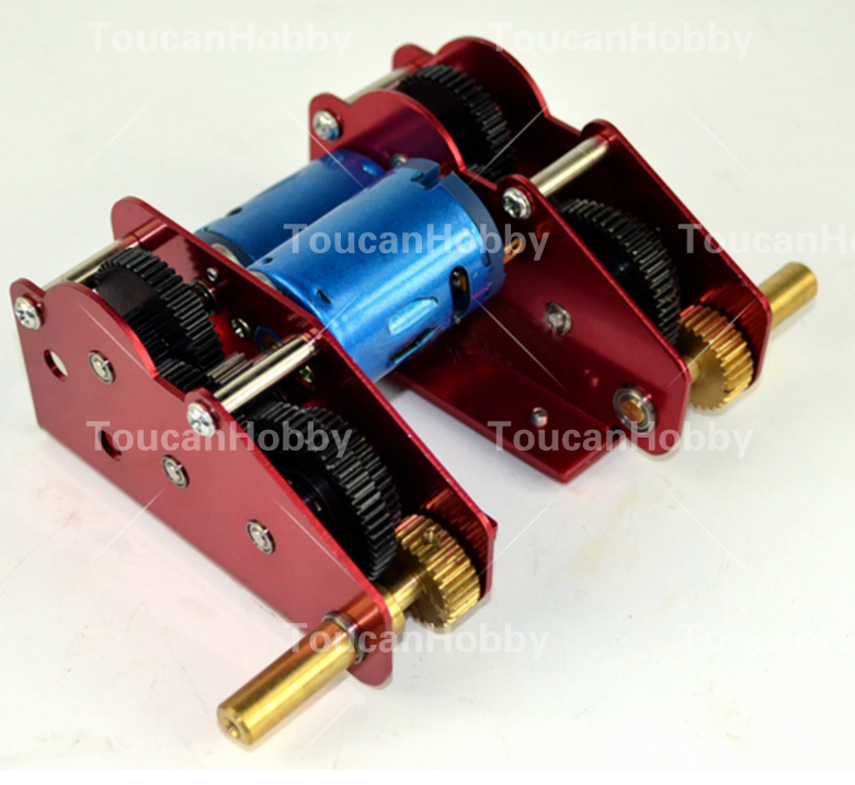 HengLong RC Tank 3818 3819 3848 3849 3858 3859 3868 M+L 49mm Ultimate II Steel Gearbox 4pcs set henglong rc tank 3818 3819 3838 3839 3849 3859 3869 3879 3889 ect 1 16 rc tank parts gearbox free shipping