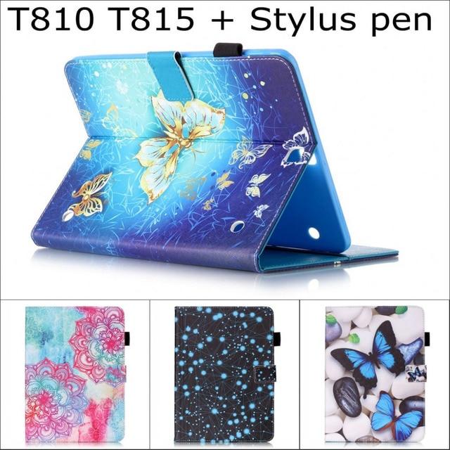 Симпатичный Мультфильм Сова цветок кошелек слот для карты Стенд pu кожаный чехол чехол для Samsung Galaxy tab S2 9.7 SM-T810 T815 t810 с ручка