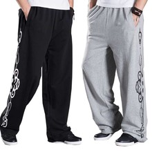 Spring Autumn Sweatpants Mens Pants Fashion Big Size Loose Baggy Joggers Track Pants Hip Hop Harem Trousers Wide Leg Sweat Pants 2019 new women yoga pants harem loose wide leg sweatpants bloomers running jogging casual fitness pants activewear crotch pants