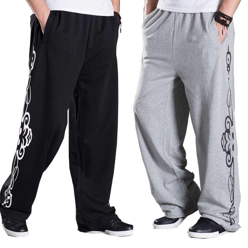 Spring Autumn Sweatpants Mens Pants Fashion Big Size Loose Baggy Joggers Track Pants Hip Hop Harem Trousers Wide Leg Sweat Pants