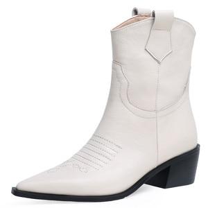 Image 4 - FEDONAS แฟชั่นชี้ Toe รองเท้าส้นสูงผู้หญิงรองเท้า Slip บนรองเท้าตะวันตกของแท้รองเท้าหนังสั้นรองเท้า Party รองเท้าผู้หญิง