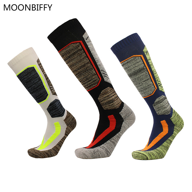 Winter Warm Men Thermal Ski Socks Thick Cotton Sports Snowboard Skiing&Hiking Socks Thermosocks M&L
