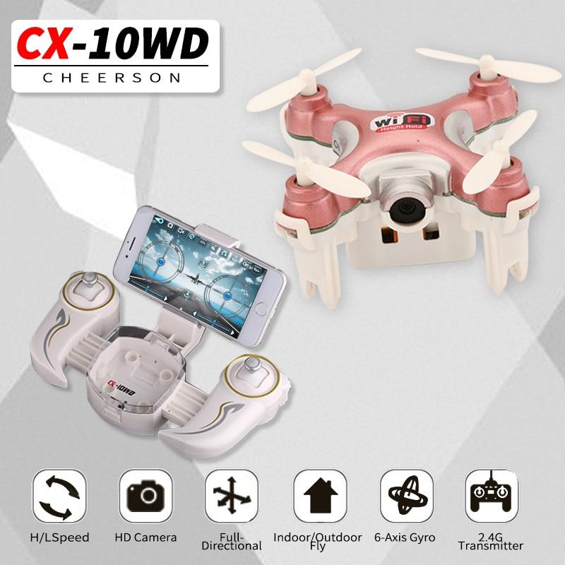 Cheerson CX-10WD CX10WD Mini Wifi FPV With High Hold Mode 0.3MP Camera 2.4G 6-axis Phone WIFI Control Mode RC Quadcopter RTF