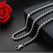 1PC Silverly Stainless Steel Keel Chain For Women Men Jewelry Necklaces & Pendants Charms Jewelery Wholesale (2mm-5mm Wide)(China)