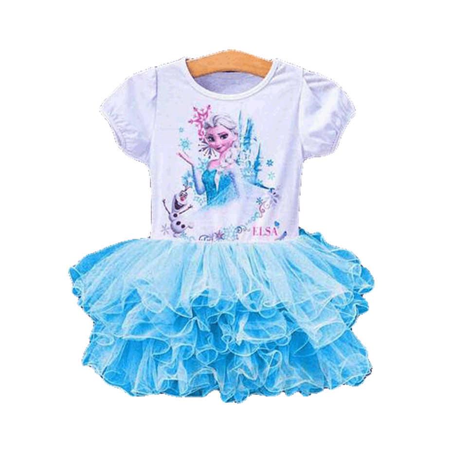 Disney Frozen New 2018 Girls elsa costumes kids TuTu Cosplay party princess  anna elza vestidos infants for children elsa dress costume elsa dressanna  dress - AliExpress
