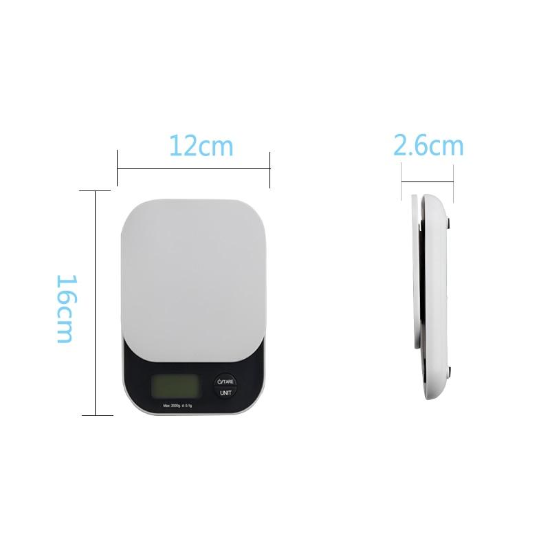 Toidu digitaalkaalud elektrooniline miniköögiskaala 2KG 5KG - Mõõtevahendid - Foto 2