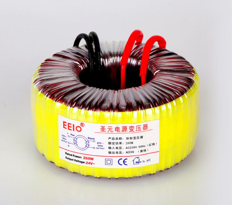 24V tranformer 260VA Toroidal transformer copper custom transformer 220V input 24V 10.8A power transformer24V tranformer 260VA Toroidal transformer copper custom transformer 220V input 24V 10.8A power transformer