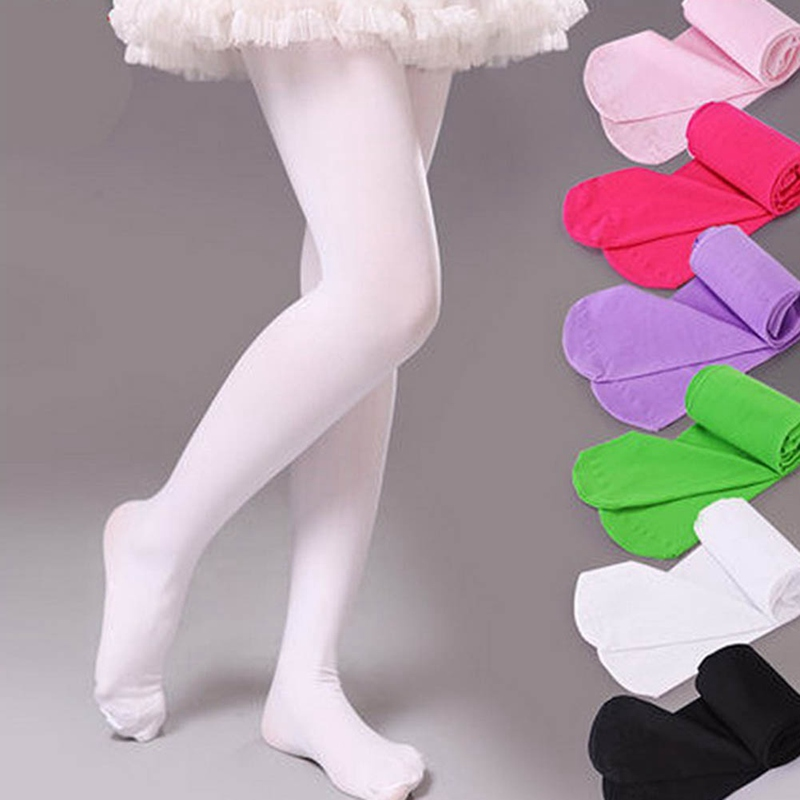 Spring Autumn Candy Color Children Tights For Baby Girls Kids Cute Elastic Pantyhose Tights Stockings For Girls Dance Tights