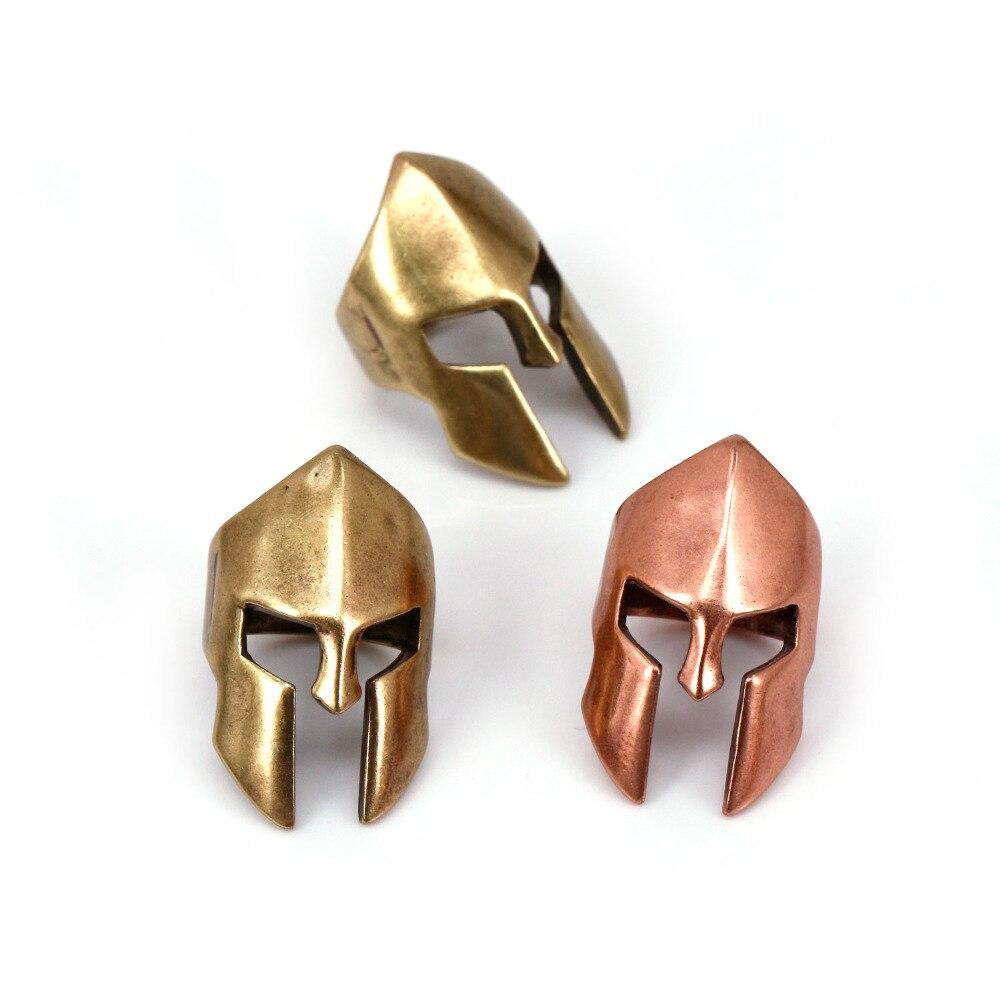 Stainless Steel Spartan Sparta Helmet Shaped Lanyard Bead Paracord Beads