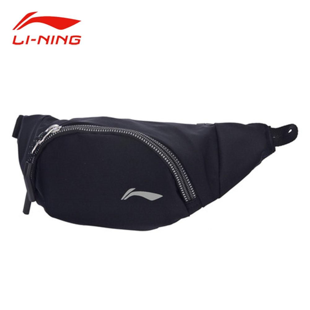 Li-Ning Unisex 1L Waterproof Polyester Running Waistpack 30x11x5cm Reflective LI NING Men&Women Stylish Sports Waist Bag ABLM016