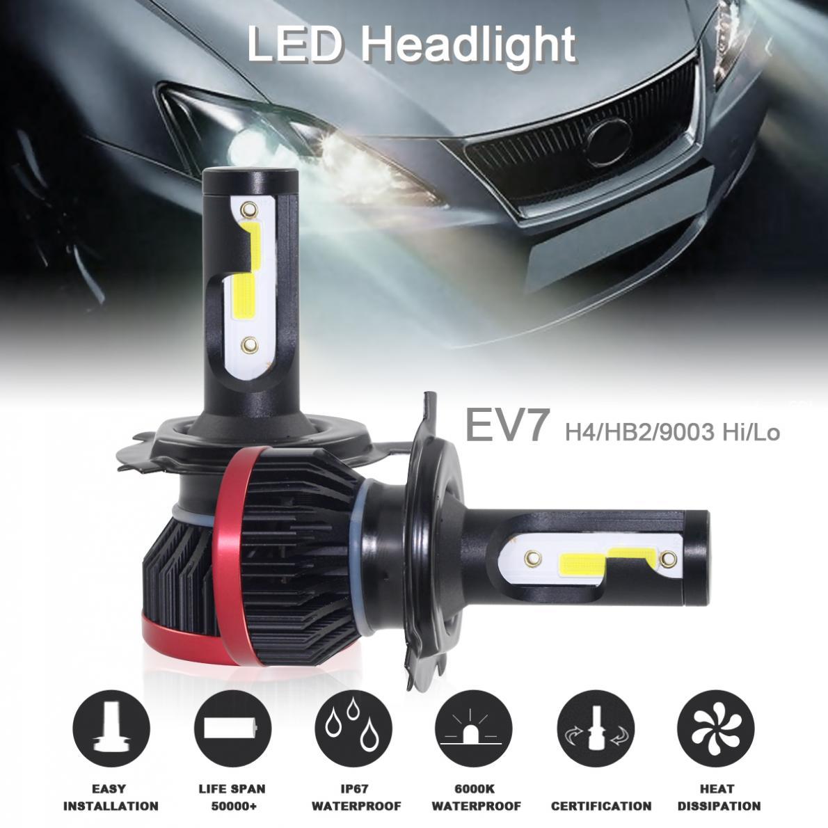 1pair H13 9008 10800LM 120W LED Car Headlight Kit Hi//Lo Turbo Light Bulbs 6500K