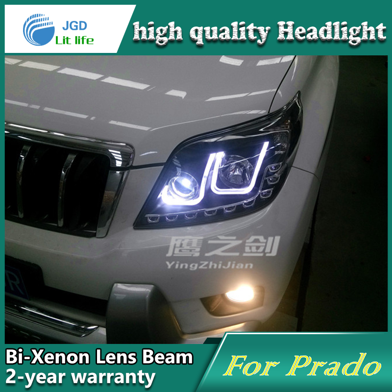 high quality Car Styling for Toyota Prado 2010 2011 Headlights LED Headlight DRL Lens Double Beam HID Xenon Car Accessories special car trunk mats for toyota all models corolla camry rav4 auris prius yalis avensis 2014 accessories car styling auto