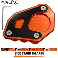 Motorcycle CNC Kickstand Foot Side Stand Extension Pad Support Plate For KTM Adventure 1050 1090 1190
