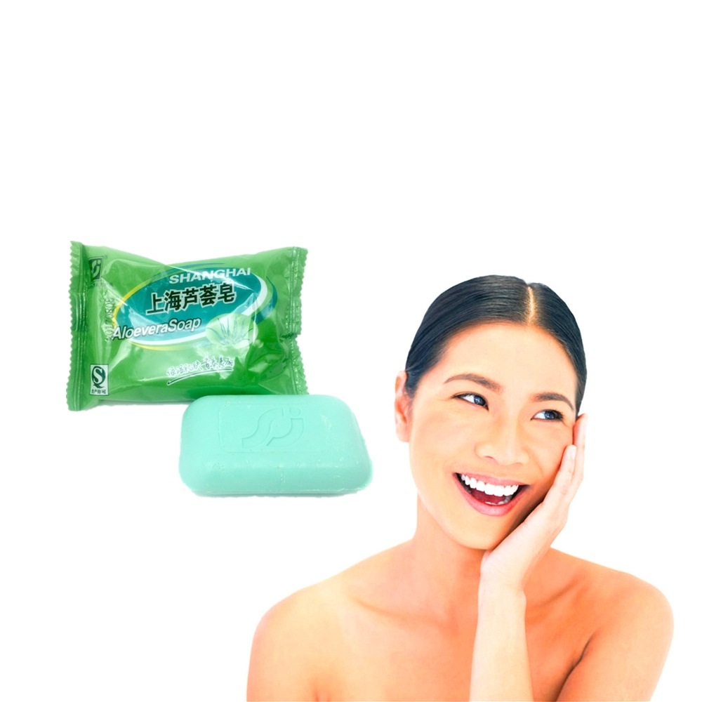 Best Face Skin Care Natural ALOEVERA Essence Facial Soap 85g Whitening Acne Treatment Blackhead Remove Anit-Wrinkle