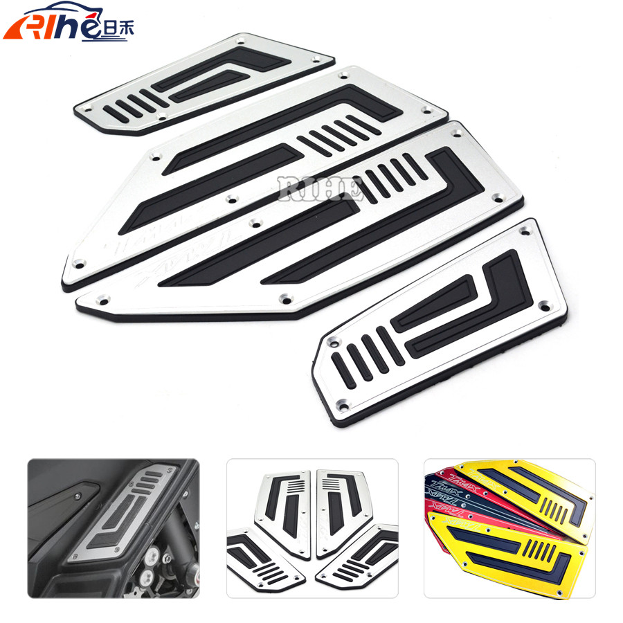 for YAMAHA TMAX530 2012 - 2016 Motorcycle CNC Front and Rear Motorblke Footboard Steps Foot Pegs Plate one sert TMAX 530 T-MAX cnc aluminum motorcycle rear passenger foot pegs pedals footrests for yamaha tmax 500 tmax 530 t max500 t max530 t max mt07 mt09