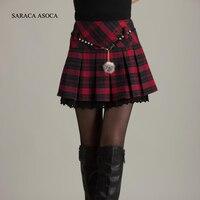 Hot Sell New Arrival Autumn And Winter Mini Plaid Short Skirt Women S Fashion 2013 Plus