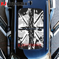 For Mini Cooper Roof Decal Perforated Vinyl Sticker Sunroof Graffiti Grey Jack R55 R56 R60 R61