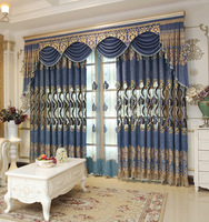 Luxury European Style Embroidery Fabric Curtains For Living Room Bedroom Custom Villa Finished Modern Tulle Sheer