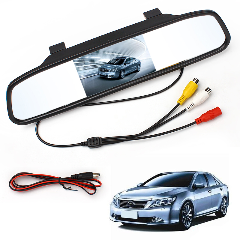 Car Rearview Mirror Monitor With Backup Reverse font b Camera b font TFT LCD Color Parking