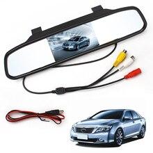 TFT LCD de coches Espejo Retrovisor Con Cámara de Marcha Atrás de Copia de seguridad de Color Cámara de Visión Trasera de Ayuda Al Aparcamiento Car Styling