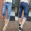 Summer Fashion men jeans casual slim high quality cotton denim brand design pants Free Shipping MF7698514